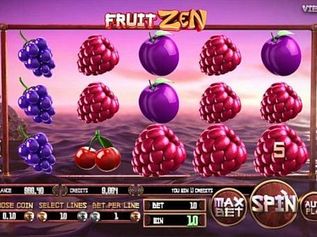 Призовая комбинация на линии в игровом автомате Fruit Zen