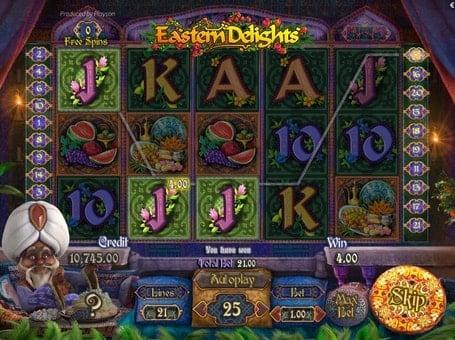 Призовая комбинация в игровом автомате Eastern Delights