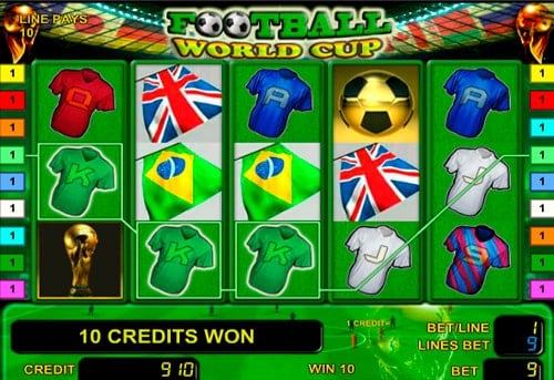 Выигрышная последовательность в онлайн автомате Football World Cup