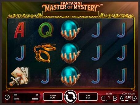 Символы игрового автомата Fantasini: Master of Myster